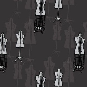 Dress Forms - Black and White