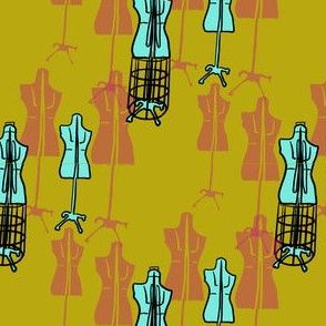 Dress Forms - Yellow
