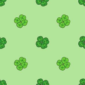 Four Leaf Clover // Polka Dots // Green