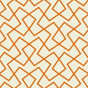 Loopy Lace - orange on brown
