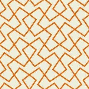 Angled Lines - orange cream