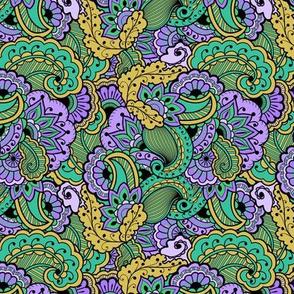 Purple Gold Pattern