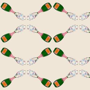 Champagne rose veuve cliquot beige