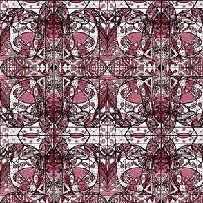 16_Maroon/Pink_Small_Mirror