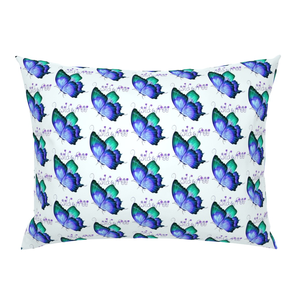 Campine Pillow Sham featuring Wild and Free Butterfly by gypsea_art_designs