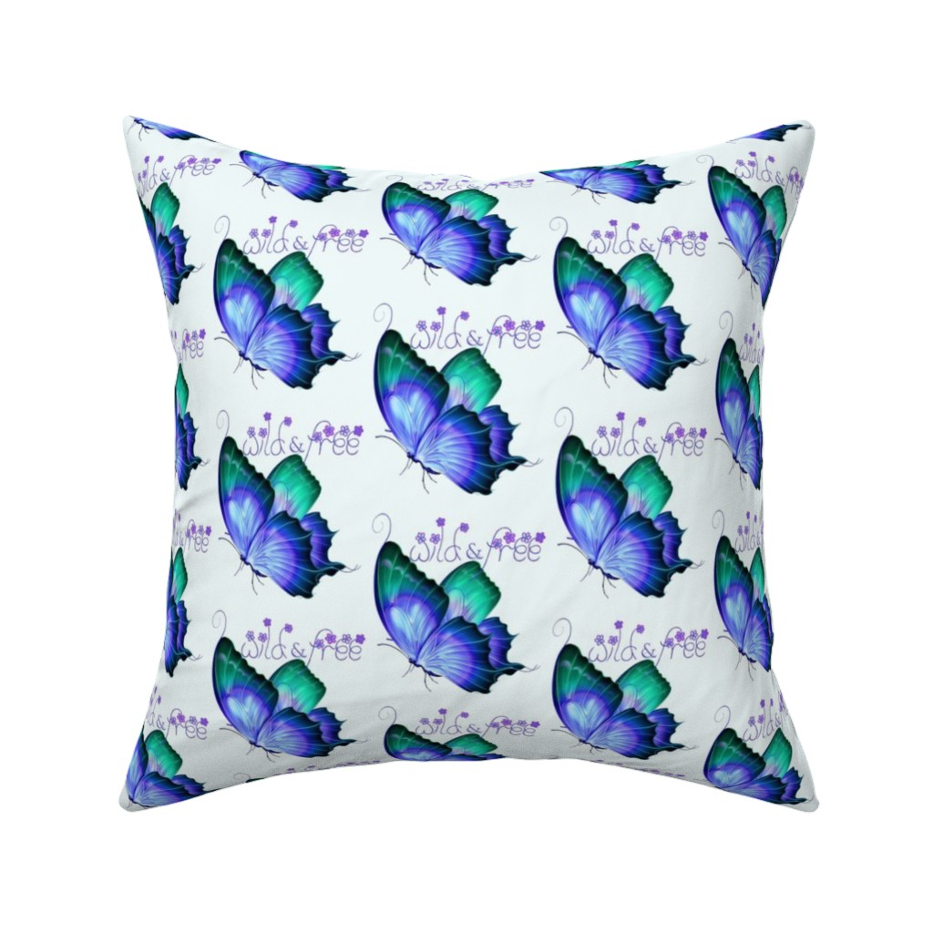 Catalan Throw Pillow featuring Wild and Free Butterfly by gypsea_art_designs