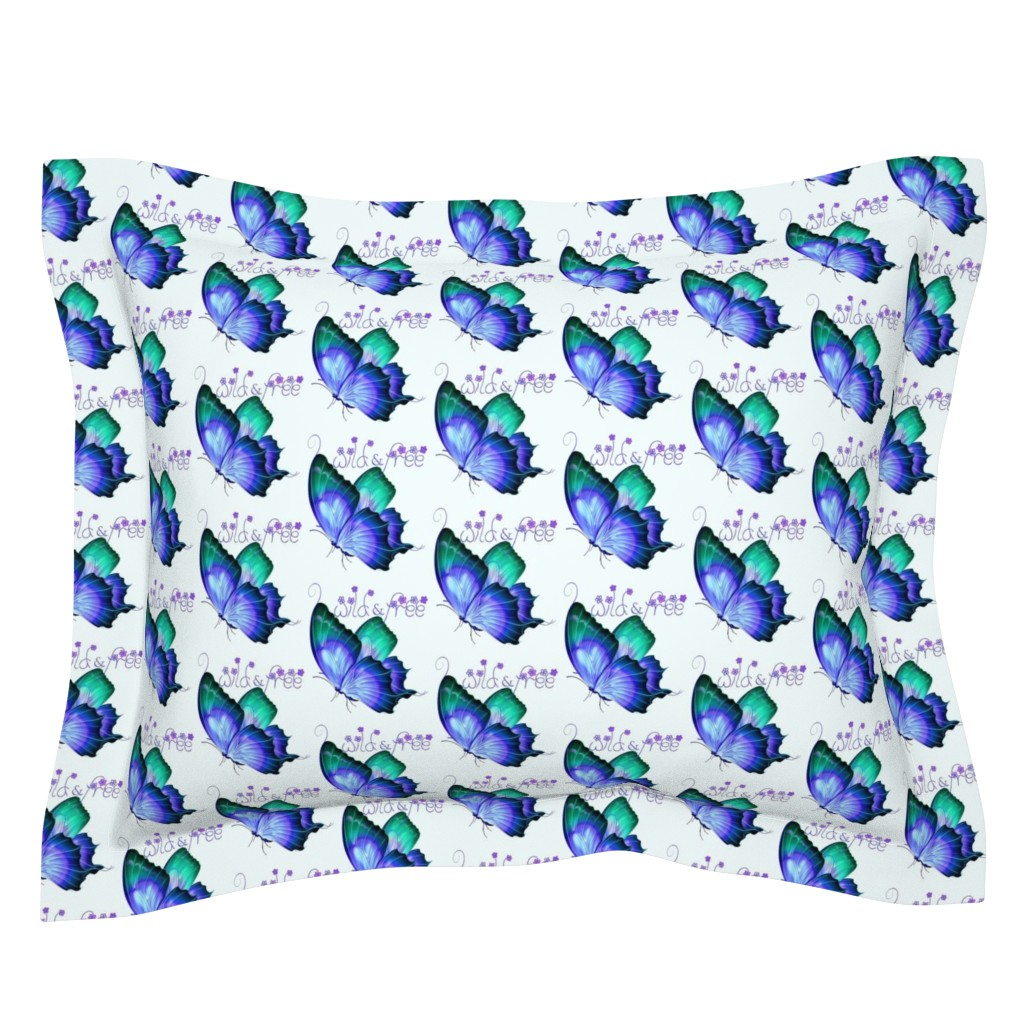 Sebright Pillow Sham featuring Wild and Free Butterfly by gypsea_art_designs