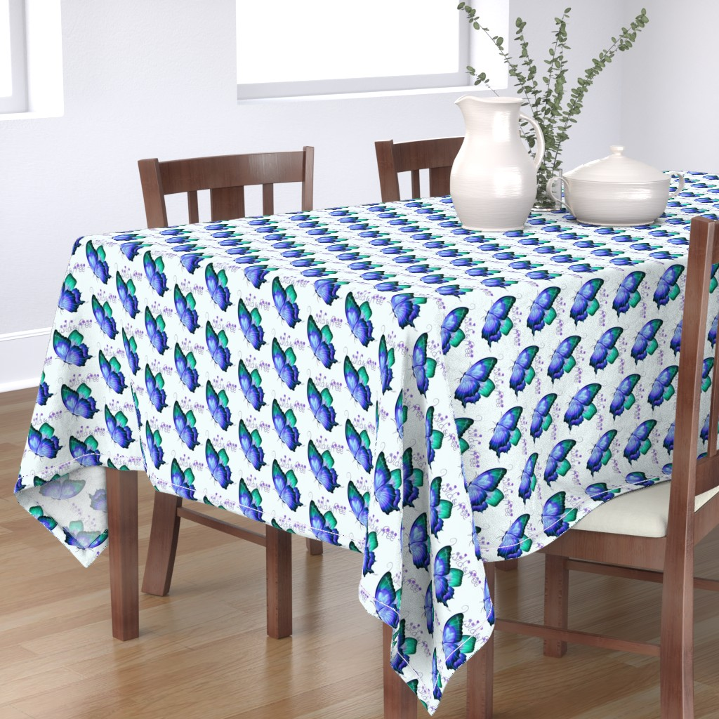 Bantam Rectangular Tablecloth featuring Wild and Free Butterfly by gypsea_art_designs