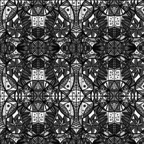 50_Black White Gray_Pinwheel_Mirror