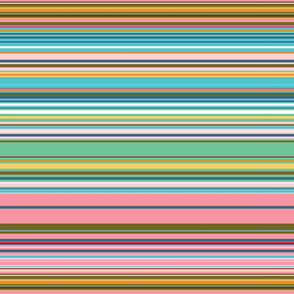 Colorful stripes |  08 – green pink orange