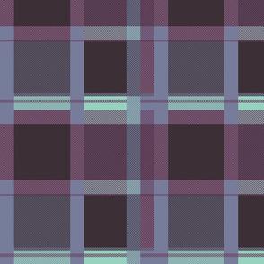 Colorful tartan | 03 – purple mint