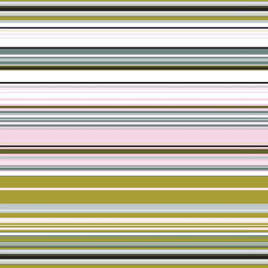 Colorful stripes |  11 –  olive gray and baby pink