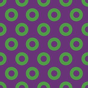 Green and Purple Fishman Donuts 5-INCH