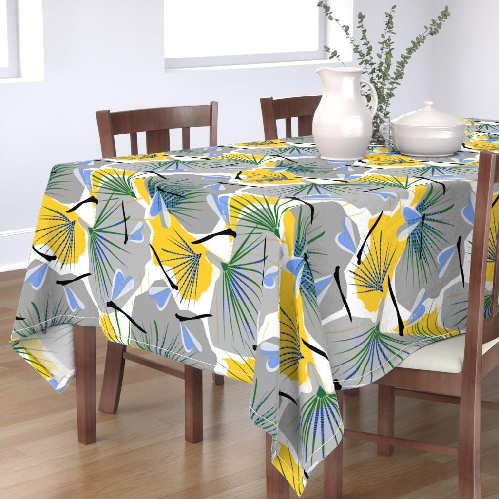 Bantam Rectangular Tablecloth featuring Ginkgo World dragonfly 2 by lorloves_design