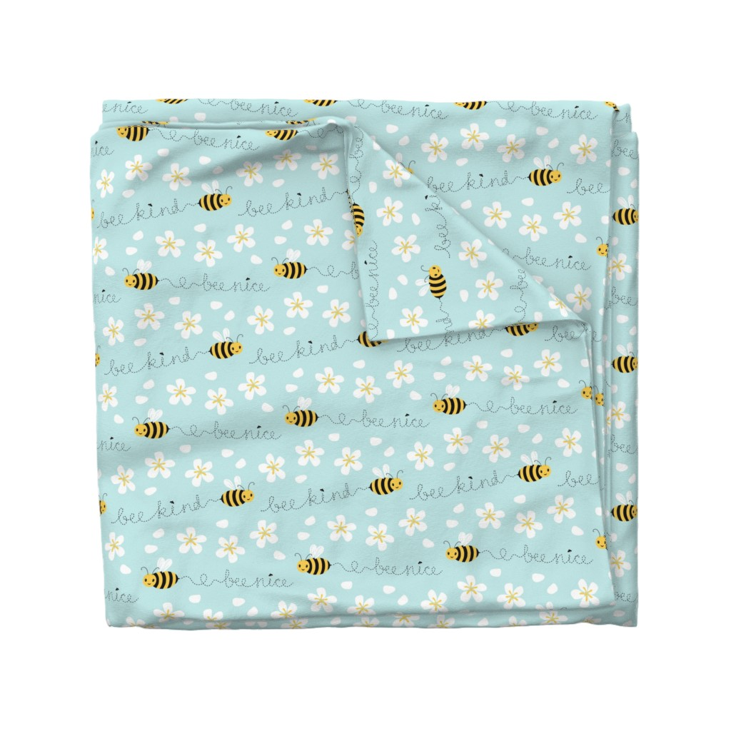 Wyandotte Duvet Cover featuring Bee Nice, Bee Kind 8.5'' by nadyabasos