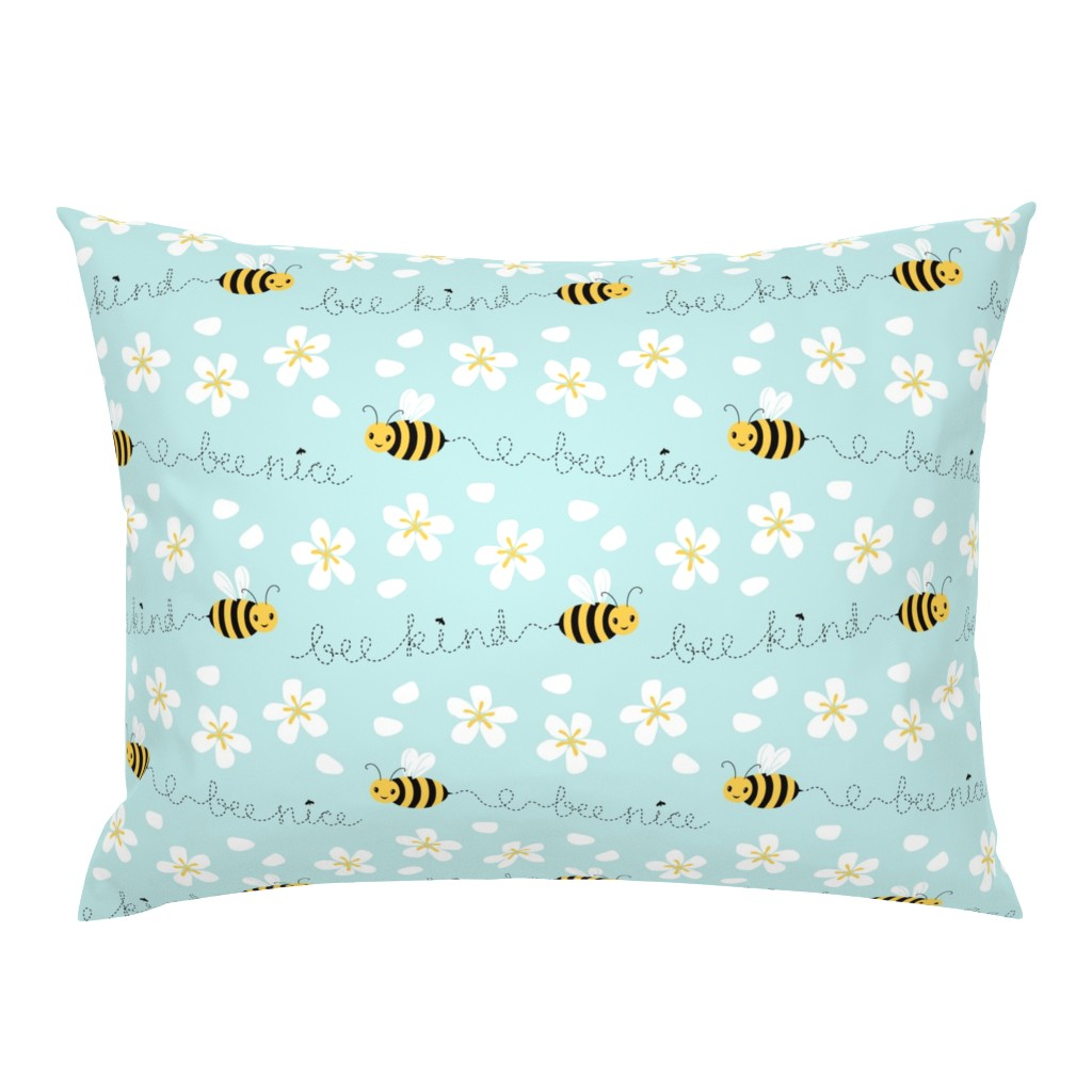 Campine Pillow Sham featuring Bee Nice, Bee Kind 8.5'' by nadyabasos