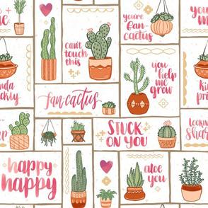 You're Fan-Cactus! // Uplifting Southwest Cactus Design // Succulents, Cacti, Desert Plants, Terra Cotta Pots, Garden, Grow, Affirmation, Happy, Fun, Puns