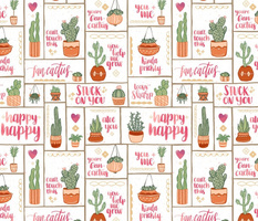 You're Fan-Cactus! // Uplifting Southwest Cactus Design // Succulents, Cacti, Desert Plants, Terra Cotta Pots, Garden, Grow, Affirmation, Puns © ZirkusDesign