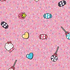 Candy Cupcake Pattern