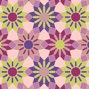 Cosmos Love Arabesque Fabric Pattern