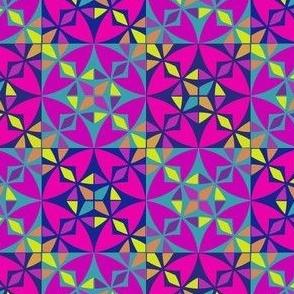 Arabesque Geometric Pattern Fabric 3