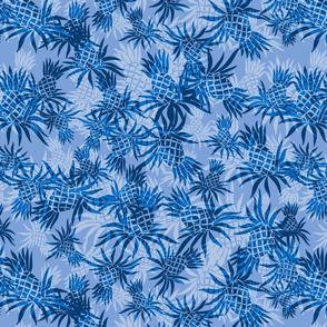 Hawaiian Pineapple Camo- Tonal Blues