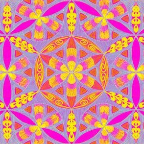 Arabesque Mandalas Pattern Fabric
