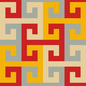 Tesselating T Greek Key Trendy1920s Colors