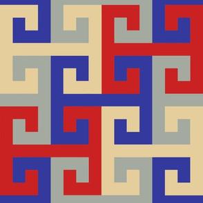 Tesselating T Greek Key Trendy1920s Colors 2