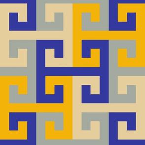 Tesselating T Greek Key Trendy1920s Colors 3