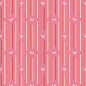 Arrow stripes |  01 – baby pink orange