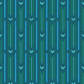 Arrow stripes |  02 – aqua blue green