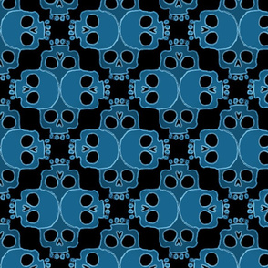 Skull Jigsaw Blue