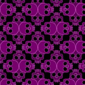 Skull Jigsaw Hot Pink