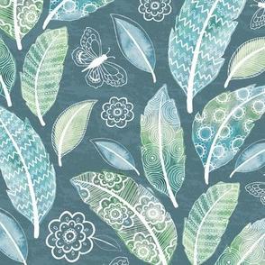 Dreamy Boho Paradise - muted blue/green