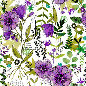 Bloom Where You are Planted - Purple Large