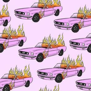 Burning Mustang // Pink Car