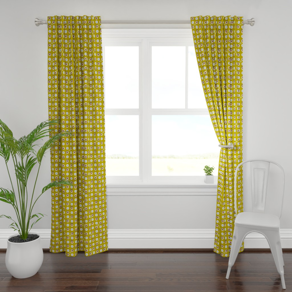 Plymouth Curtain Panel featuring 7h1NK 0U75ID3 7h3 BOX by ottomanbrim