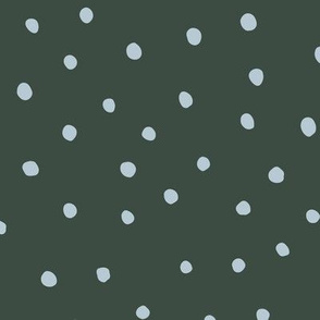 Minimal dots trend abstract rain drops scandinavian style texture irregular spots green blue winter
