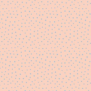 Minimal tiny mini dots trend abstract rain drops scandinavian style texture irregular spots peach nude blue winter SMALL