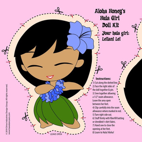 Hula Girl Doll Kit and Pattern- Periwinkle