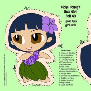 Hula Girl Doll Kit and Pattern - Purple
