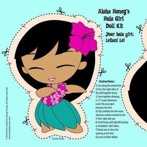 Hula Girl Doll Kit and Pattern - Pink