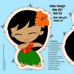 Hula Girl Doll Kit and Pattern - Orange