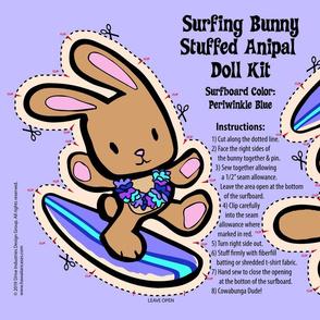 Hawaiian Surfing Bunny Doll Kit- Periwinkle
