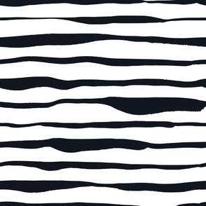 Black and White Doodles - Uneven Stripes