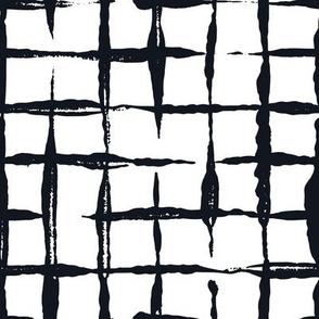 Black and White Doodles - Jumbo Checkered