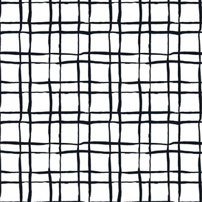 Black and White Doodles - Checkered Towel
