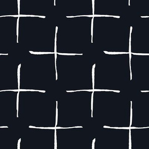 Black and White Doodles - Rough Crosses