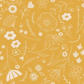 folk floral gold